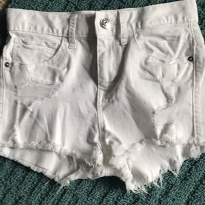 EXPRESS NEVER WORN DISTRESSED SHORTS